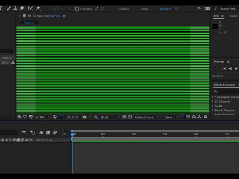 How to fix the green line in After effect or other adobe