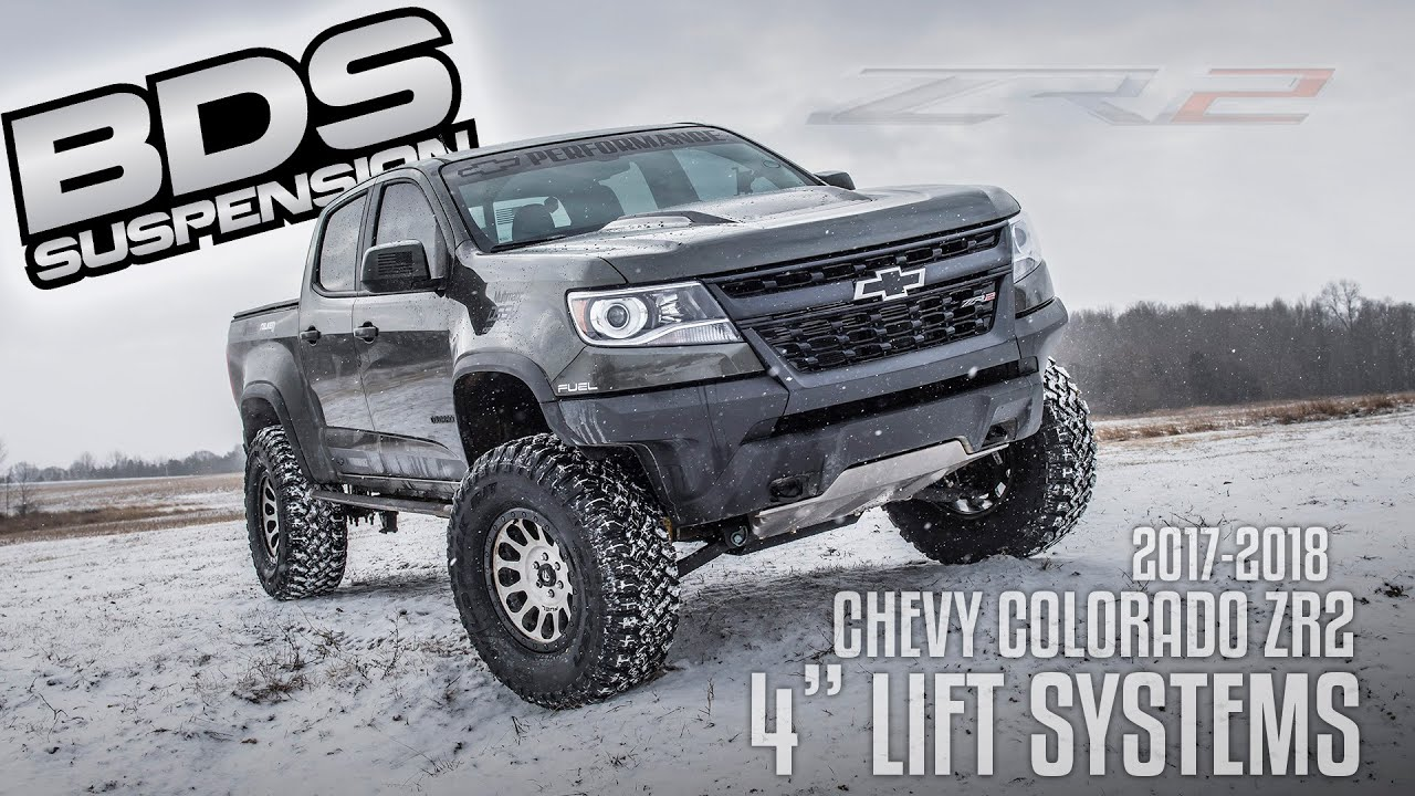 "BDS launches 4"" Lift Kits for the Colorado ZR2 - YouTube"