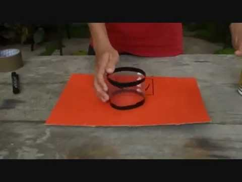 Extremely easy way to make a mini basketball hoop youtube for Making a basketball court
