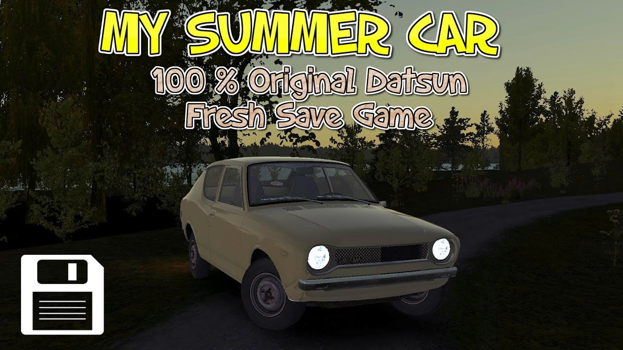 My Summer Car (100% Original Satsuma/Datsun 100a) SAVE ...