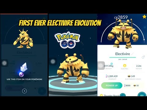First Ever Electivire Evolution in Pokemon Go