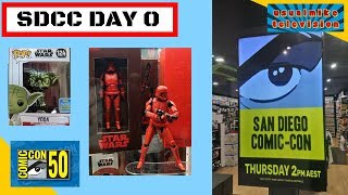 STAR WARS SDCC DAY 0 PREVIEW DAY AND FUNKO POP HAUL