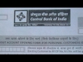 How to fill account opening form of central bank of India in hindi [ Part 1 ]