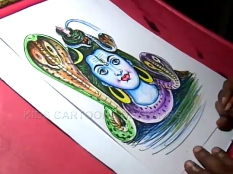 How To Draw Lord Shiva Drawing For Kids Step By Step Youtube