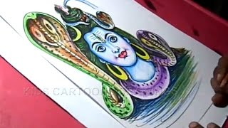 How to Draw Lord Shiva Drawing for kids Step By Step
