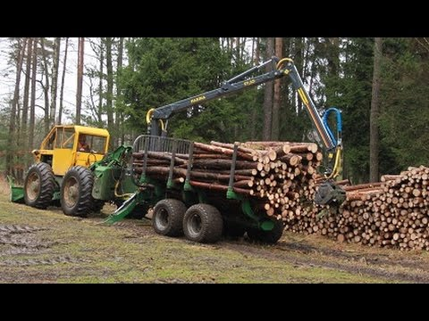 LKT 75 a traktorová vyvážečka FARMA: Speciální lesnický kolový traktor LKT 75
