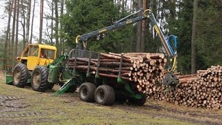 LKT 75 a traktorová vyvážečka FARMA