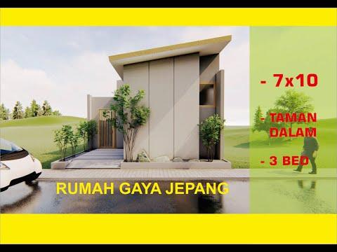 Desain Rumah minimalist 7x10 gaya jepang