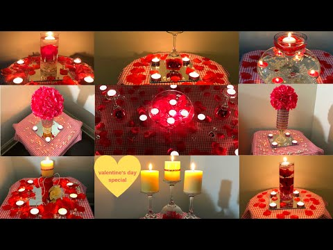 DIY Valentine's Day  Home Decor Ideas |  Room Decor Ideas | DIY Dollar Tree Valentine Centerpieces