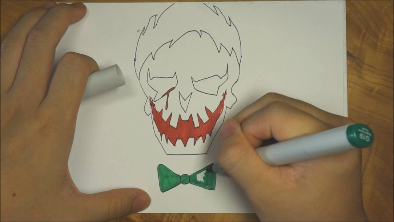 How To Draw Joker Logo (Suicide Squad)
