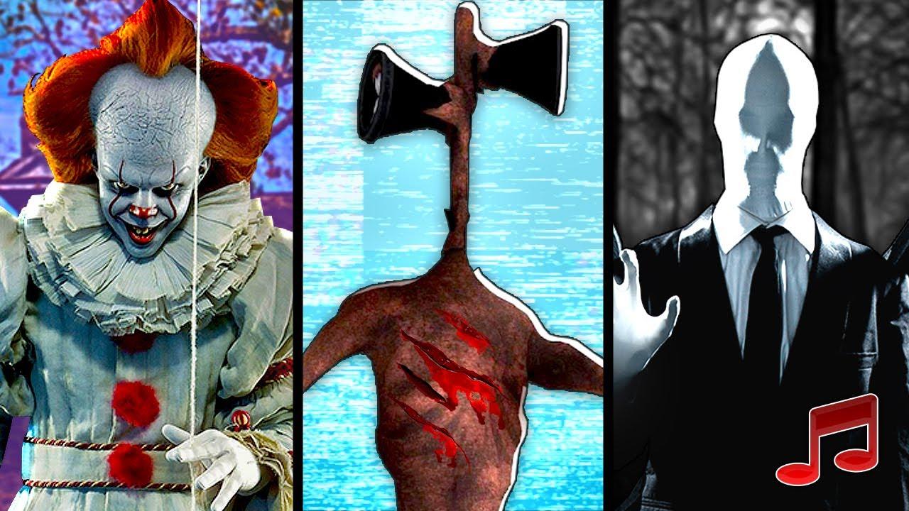 SCP РЭП - СИРЕНОГОЛОВЫЙ, ЧУМНОЙ ДОКТОР против ЭНДЕРМЕН и ПЕННИВАЙЗ 🔒 Sirenhead, Enderman, Pennywise