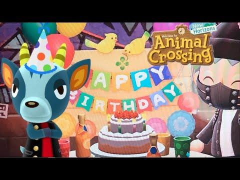 Bruce's BIRTHDAY!! Animal Crossing new horizons - YouTube