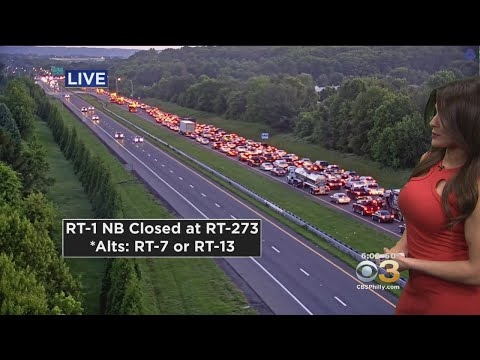 Route 1 Northbound Closed Due To Crash Involving Overturned Dump Truck