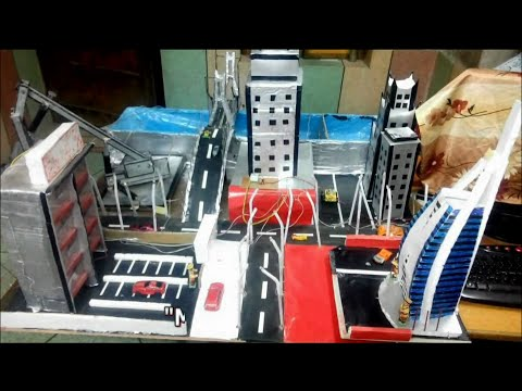 How To Make Hydraulics And LDR Based Working Model Of A City - YouTube
