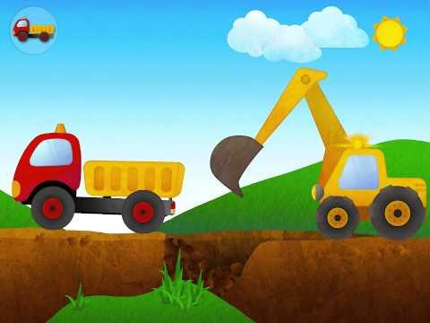 เกมส์จำลองรถแม็คโครตักดินและรถบันทุก Excavator and Truck simulator game for kids