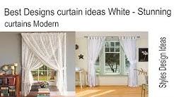 Best Designs curtain ideas White - Stunning curtains Modern