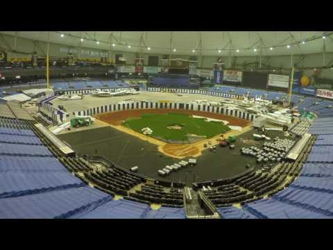 Tampa Bay Rays Shaw Sports Turf Time Lapse Video