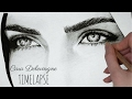 Timelapse: Drawing, shading and blending Cara Delevingne's eyes and eyebrows