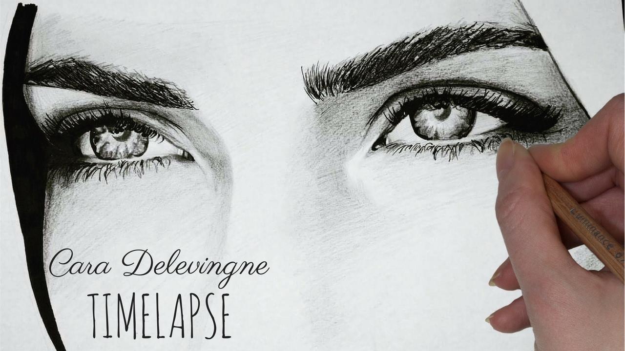 eyebrow shading drawing. timelapse: drawing, shading and blending cara delevingne\u0027s eyes eyebrows eyebrow drawing