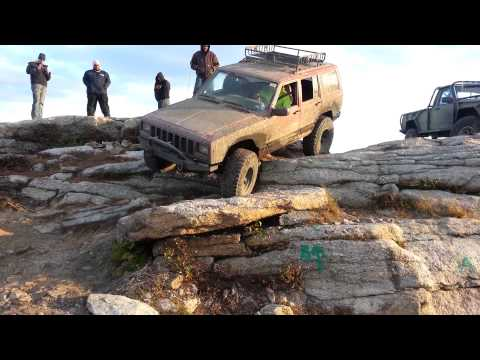 Drew's Cherokee ing us where to go at Rausch Creek