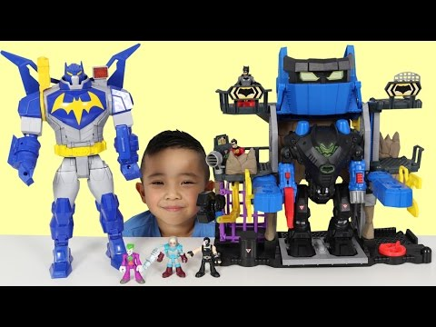 Thumbnail: Robo Batcave Playset Kids Toy Unboxing And Playing With Batman Robin Joker Ckn Toys