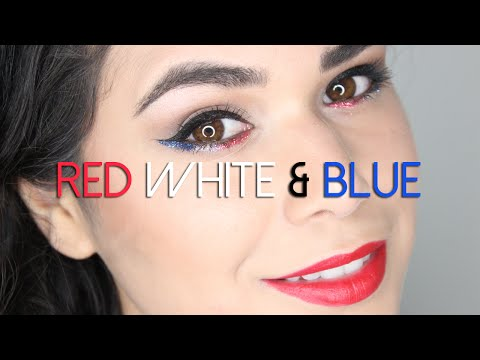 4TH OF JULY MAKEUP   Red White & Blue Sparkles