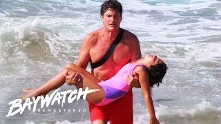 5 Epic Mitch Buchannon Lifeguard Rescues On Baywatch | Baywatch Remastered