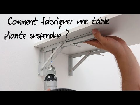 Comment fabriquer une table pliante suspendue youtube for Table pliante murale