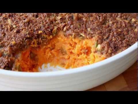Sweet Potato Casserole With Pistachio Crust - Thanksgiving Sweet Potato Casserole Side Dish Recipe