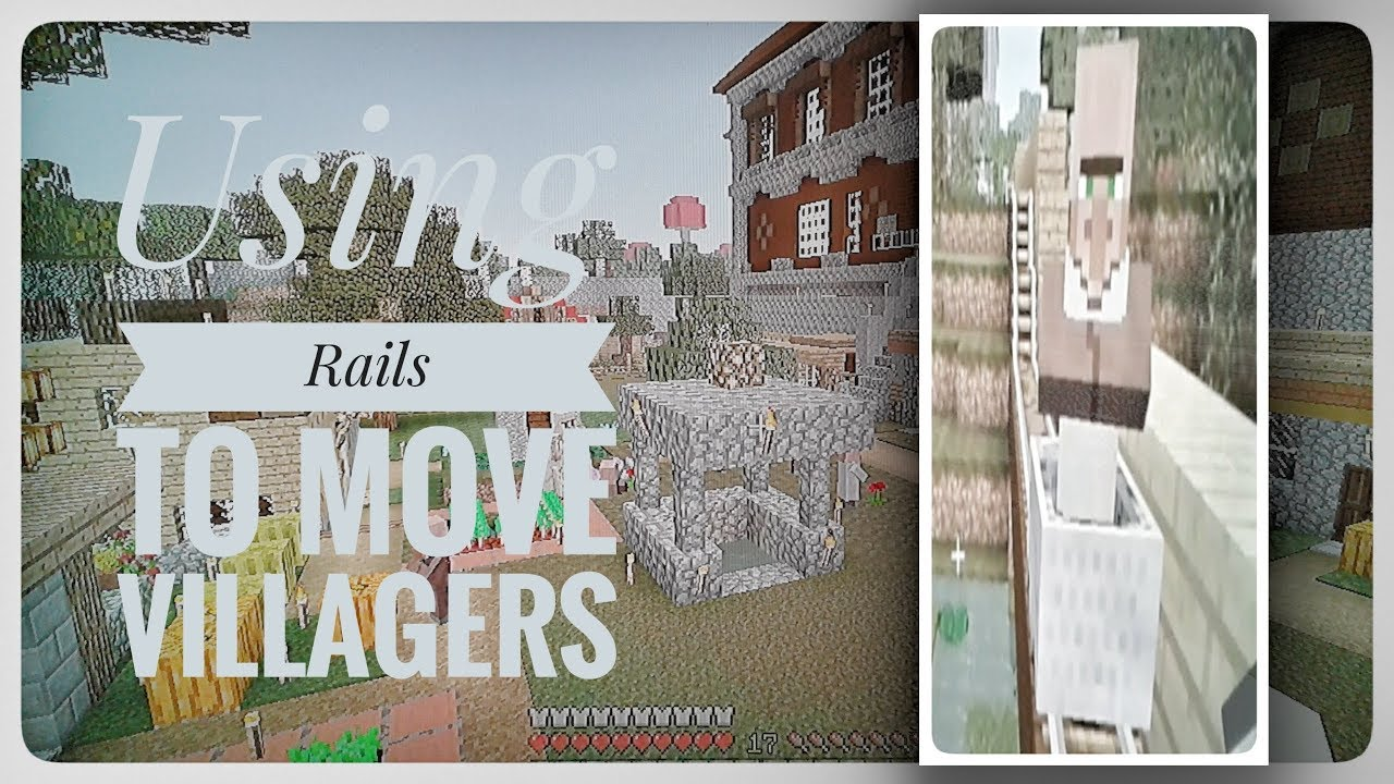 Minecraft PS3 Using Rails To Move Villagers! - YouTube