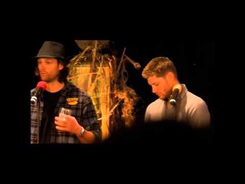 Jensen Ackles and Jared Padalecki at Burcon J2 Gold Panel November 2013 Full lenght