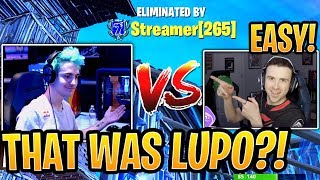 Ninja vs DrLupo FIRST Ever 1v1 in a Public Solo Match! - Fortnite Best and Funny Moments