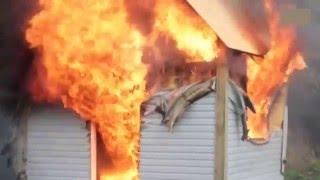Преимущество дома из СИП панелей перед Каркасным домом  Пожаробезопасность SIP панелей