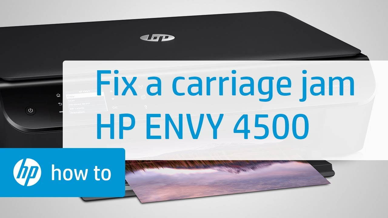Fixing A Carriage Jam Hp Envy 4500 E All In One Printer