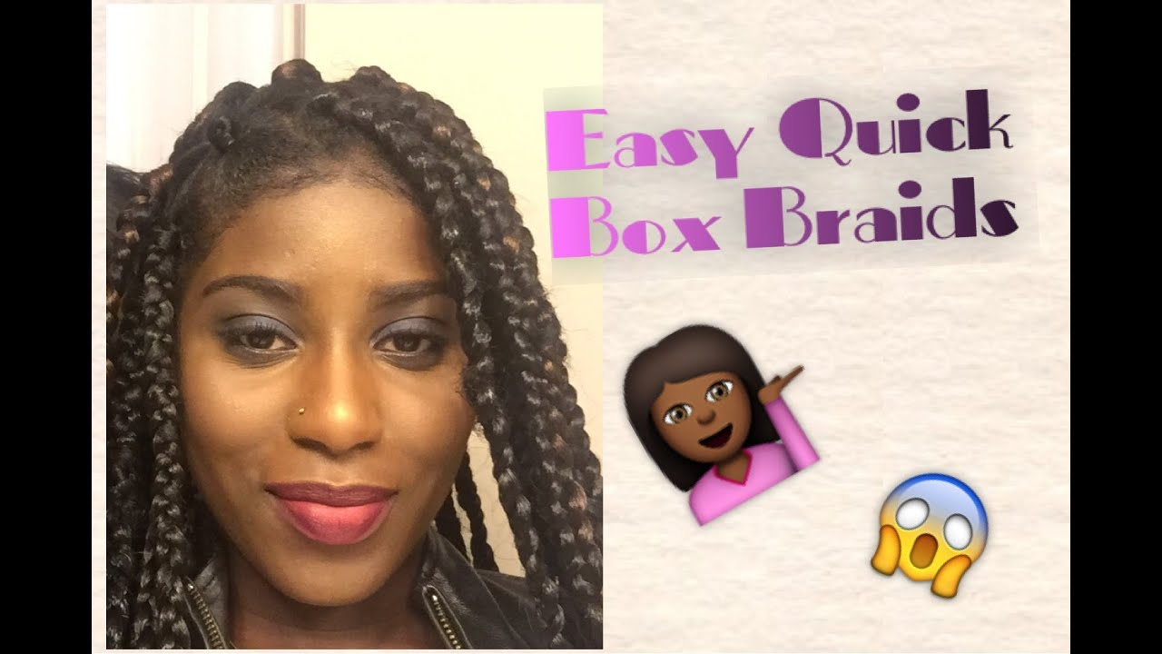 How To Do Easy Quick Box Braids Rubber Band Method