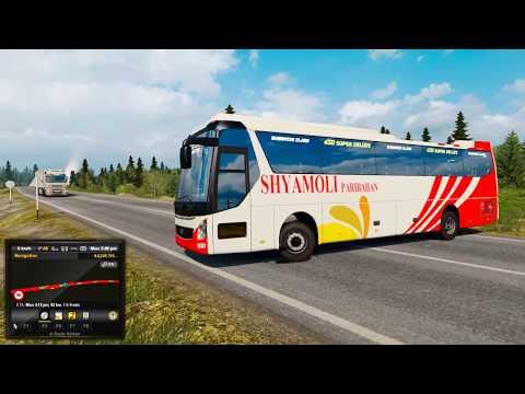Rash Riding Driver | VOLVO Class Bus Overtaking Fail | Reckless Driving | Euro Truck Simulator 2 !!!