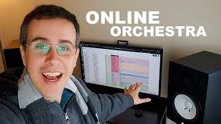 Uma orquestra híbrida online - inscrições e planejamento de gravação