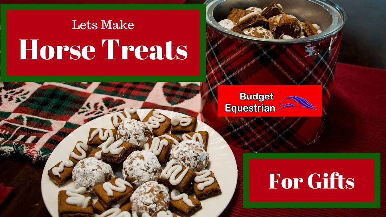 Making Homemade Horse Treats For Christmas Gifts! - YouTube