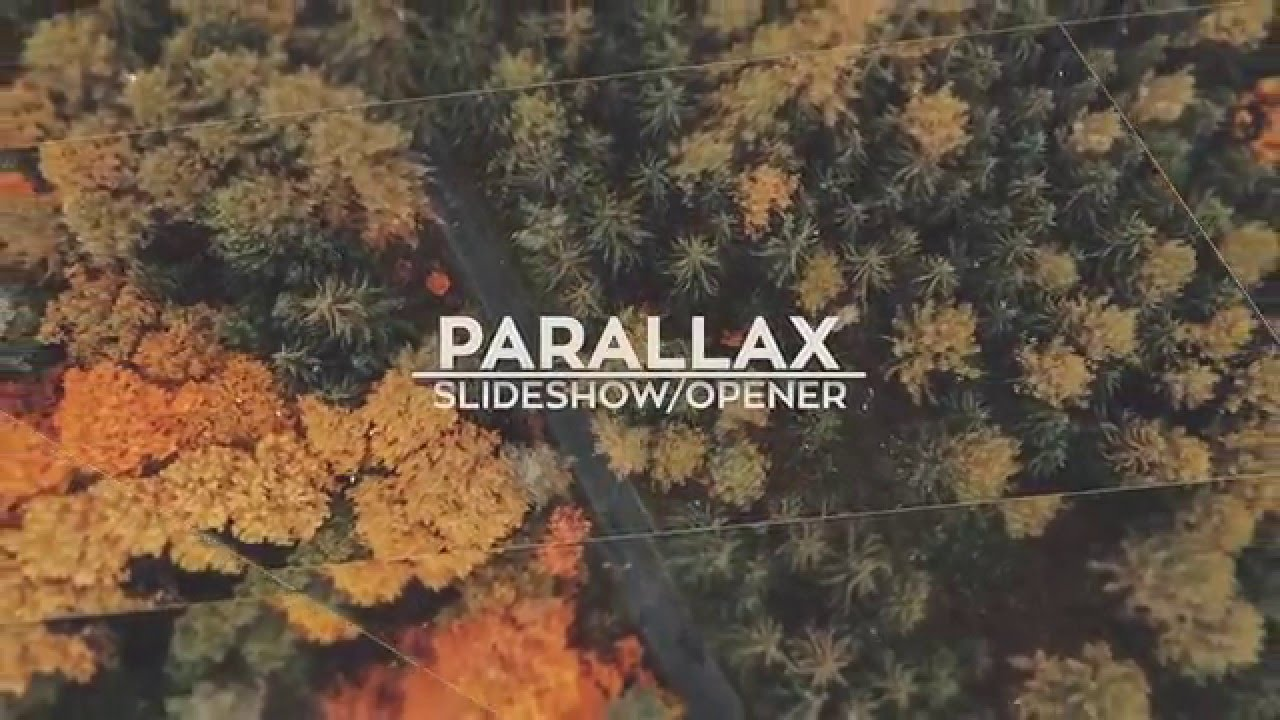 Parallax Slide After Effects Template