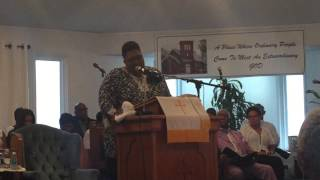 Mary T. Haney First Sermon August 23, 2015