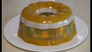 Желейный фруктовый торт.Торт без выпечки. Летний десерт.