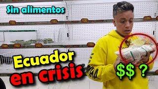 Esto NO es VENEZUELA ES ECUADOR EN CRISIS!! Y sin alimentos