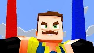 СТРОИМ СТОЛБЫ НА КАРТЕ ПРИВЕТ СОСЕД! МИНИ ИГРА У КОГО ДЛИННЕЕ СТОЛБ? | Minecraft
