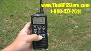 first look icom m92d handheld vhf with gps