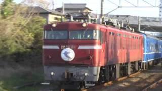 肥薩おれんじ鉄道にブルートレイン 阿久根駅