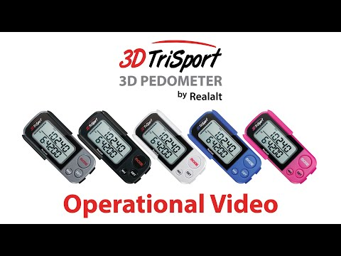 Operational Video for the 3DTriSport Pedometer by Realalt