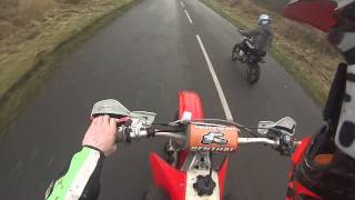 my day out on my cr 250/ kx 80 stomp 140