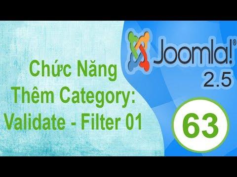 Lập Trình Joomla - Bài 63: Chức Năng Thêm Category: Validate  - Filter 01