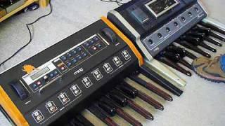 Moog Taurus 3 vs. Taurus 1 bass pedal synthesizer sound battle
