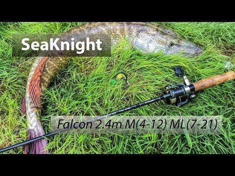 Спиннинг с двумя вершинками Seaknight Falcon 2.4m M(7-21g) ML(4-12g) из Китая